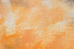 Orange painted aristic watercolor texture background royalty free stock images