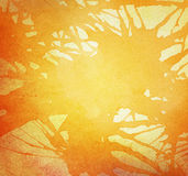 Orange painted watercolor splash and stain Stock Photography
