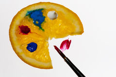 The orange painter's gamut Stock Images