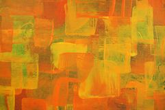 Orange painting Stock Photography