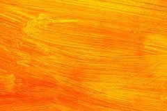 Orange painting detail Royalty Free Stock Image