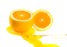 Orange and paints Stock Photography
