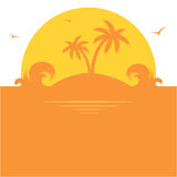 Orange palm island Royalty Free Stock Photo