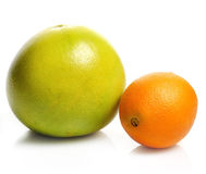 Orange And Pamelo Fruits Stock Photography