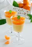 Orange panna cotta Royalty Free Stock Images