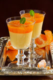 Orange panna cotta Royalty Free Stock Photos