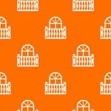 Orange panoramique de vecteur de modèle de balcon illustration libre de droits