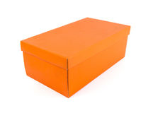 Orange paper box. Royalty Free Stock Image