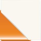 Orange paper corner Royalty Free Stock Photography