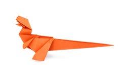 Orange paper dinosaur Royalty Free Stock Photography