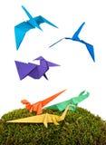 Orange paper dinosaurus Stock Photography