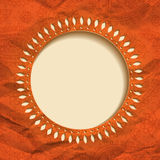 Orange paper frame Stock Photos