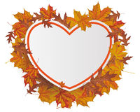 Orange Paper Heart Autumn Foliage Stock Images