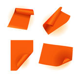 Orange paper sticker Stock Photography
