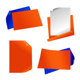 Orange paper sticker. Vector set of orange paper Royalty Free Stock Images
