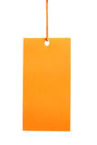 Orange paper tag isolated Stock Images
