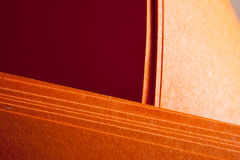 Grungy orange paper folds Royalty Free Stock Photo