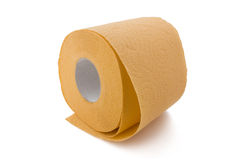 orange paper toalett Arkivfoton