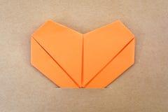Orange Papierherz lizenzfreies stockfoto