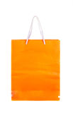 Orange Papiertüte lokalisiert Lizenzfreies Stockfoto