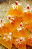 Orange Paprika-Essiggurke im Essig Lizenzfreies Stockbild