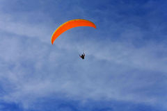Orange paraglide Stock Photo