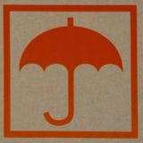 Orange paraply Royaltyfri Bild