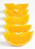Orange parts isolated Royalty Free Stock Image