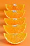 Orange parts isolated Royalty Free Stock Photo