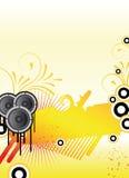 Orange party flyer Stock Photography