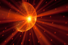 Orange party lights Stock Image