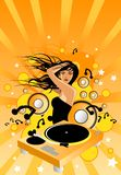 Orange Party Time. Funky and fresh dance elements vector illustration