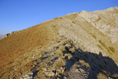 Orange Pass ridge in Uzbekistan in autumn Stock Images