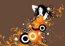 Orange Passion Girl Stock Images