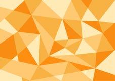 Orange Pastellfarbpolygonhintergrund Lizenzfreie Stockfotografie