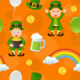 Orange Patrick s Day Seamless Pattern Stock Images