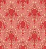 Orange pattern with damask. Pattern with damask. Orange filigree ornament. Elegant template for wallpaper, textile, shawl, carpet Royalty Free Stock Photo
