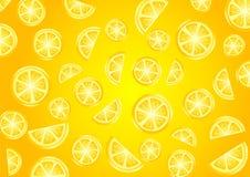 Orange pattern with lemons. Orange pattern with fresh lemons Stock Photos