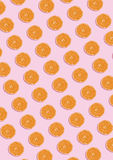 The orange pattern on pink background. Minimal concept. Royalty Free Stock Images