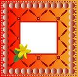 Orange patterned background Stock Images