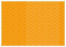 Orange patterned ticket royalty free stock photography
