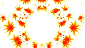 Orange patterns on a white background Royalty Free Stock Photo