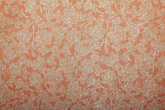 Orange peach floral glitter handmade art paper Royalty Free Stock Photography