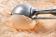 Orange or peach ice cream Royalty Free Stock Photos