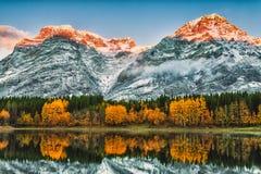 Orange peaks Stock Photo