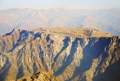 Orange peaks of the Tien Shan mountains Stock Image