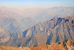 Orange peaks of the Tien Shan mountains Royalty Free Stock Photos