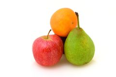 Orange, Pear and Apple Royalty Free Stock Photography