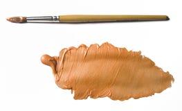 Orange Pearl Acrylic colour Stock Photo