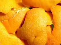 Orange peel. Detail photo texture of orange peel background stock photography